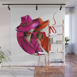 Pinks, Reds and Gangsta Hats Wall Mural