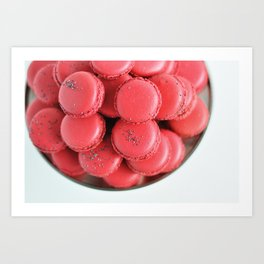Pink macarons photograph Art Print