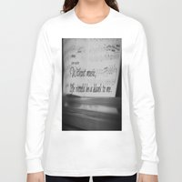 jane austen Long Sleeve T-shirts featuring Music Jane Austen by KimberosePhotography