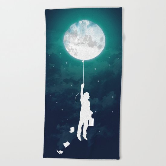 Burn the midnight oil Beach Towel