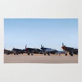 WW2 Warbirds Line-up, Sonoma County Airport, California Rug