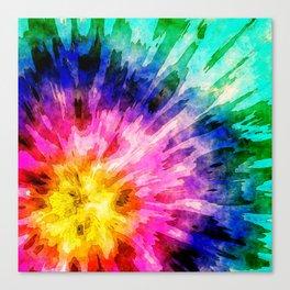 Textured Tie Dye Canvas Print