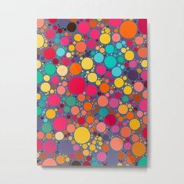 Vector Color Stones Pattern Design Metal Print