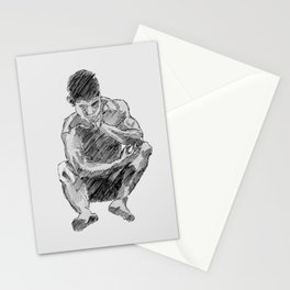 LEE - male figure drawing Stationery Cards