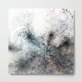 Fashion feather pattern Metal Print