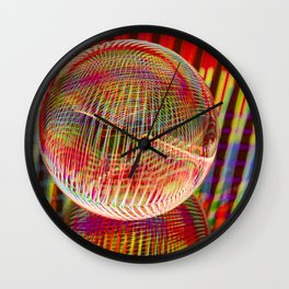 Criss Cross lights in the crystal ball Wall Clock