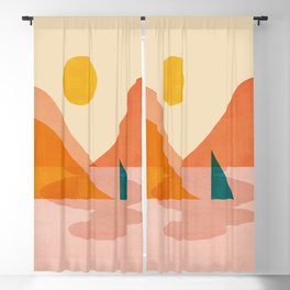 Abstraction_Lake_Sunset Blackout Curtain