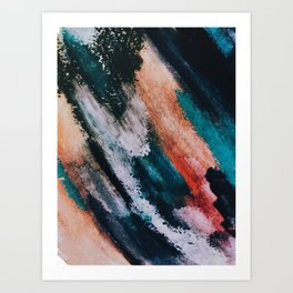 Chaos: a mixed media abstract in a variety of vibrant colors Art Print