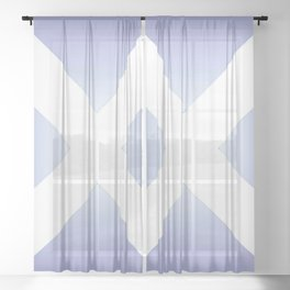flag of scotland - with color gradient Sheer Curtain