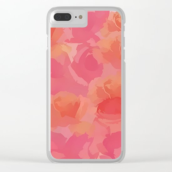 Soft Rose Bouquet Abstract Clear iPhone Case