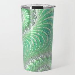 Teal Frosting - Fractal Art Travel Mug