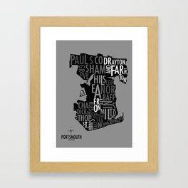 Portsmouth Boundaries Framed Art Print