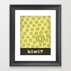 kiwi? Framed Art Print