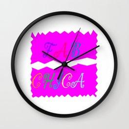 Fab Chica Fashion Wall Clock