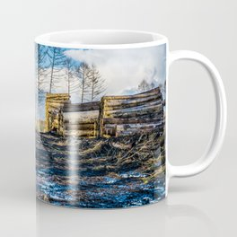 Poltery Site (Wood Storage Area) After Storm Victoria Möhne Forest Coffee Mug