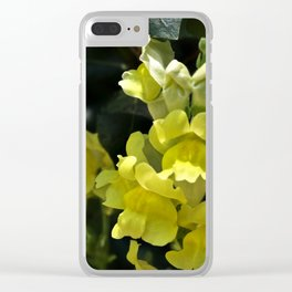 Yellow Snapdragons Clear iPhone Case