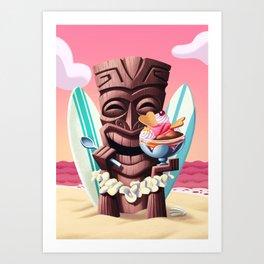 Tiki ice-cream Art Print