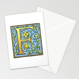 Monogram Initial Alphabet Letter 'F' Stationery Cards
