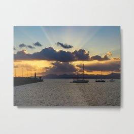 Dramatic Sunset Sky at Arrecife, Lanzarote Metal Print