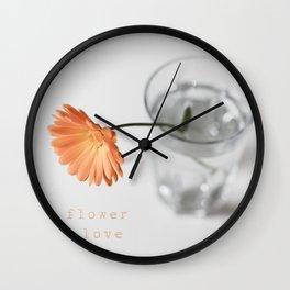 flowerlove Wall Clock