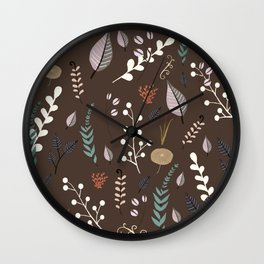floral dreams 3 Wall Clock