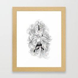 Swimming Horse Framed Art Print