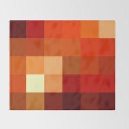 BLOCKS - RED TONES - 1 Throw Blanket