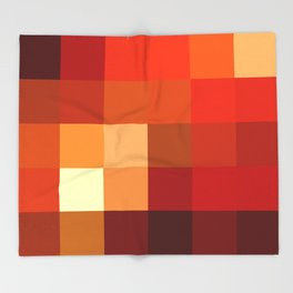 BLOCKS - RED TONES - 1 Throw Blanket