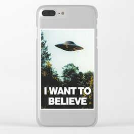 I WANT TO BELIEVE (OFFICIAL) Clear iPhone Case