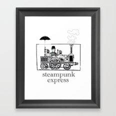 Steampunk Express Framed Art Print