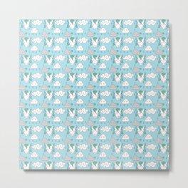 sleepy unicorns pattern Metal Print