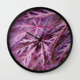 Japanese Maple Macro Wall Clock