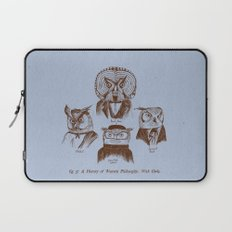 A History of Western Philosophy. With Owls. Laptop Sleeve