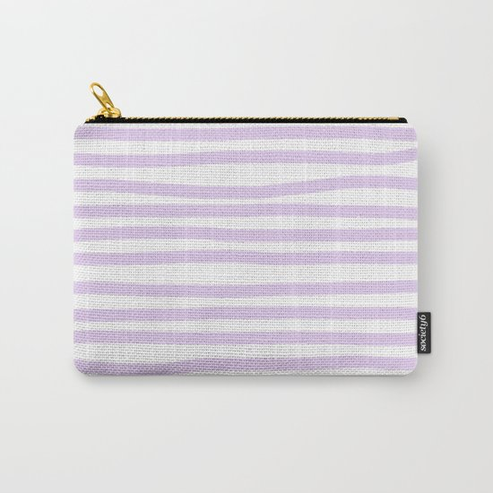 Lilac Stripes Horizontal Carry-All Pouch