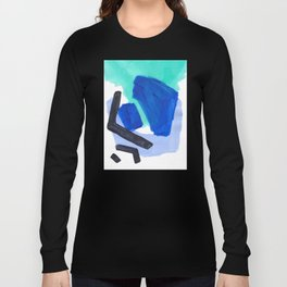 Ocean Torrent Whirlpool Teal Turquoise Blue Long Sleeve T-shirt