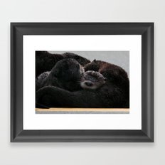 Snuggle Time Framed Art Print