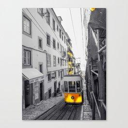 Lisbon Yellow Elevator Tram Canvas Print