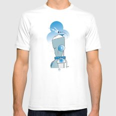 8 of Clubs MEDIUM White Mens Fitted Tee