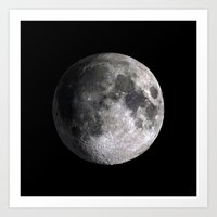 The Full Moon Super Detailed Print Art Print