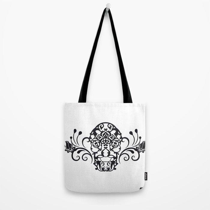 SKULL FLOWER 04 Tote Bag
