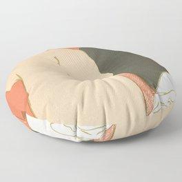 """Henri de Toulouse-Lautrec """"Theatre programme for L'argent by Emile Fabre"""" Floor Pillow"""