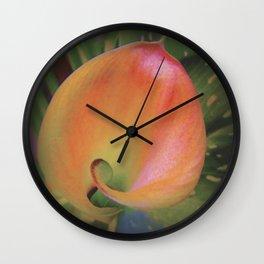 Fire Glow Calla Lily Wall Clock