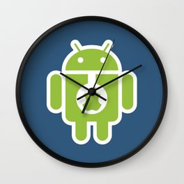 Android eats Apple Wall Clock