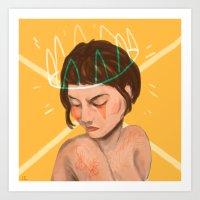 Crowned loser Art Print