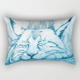 Bobcat nap Rectangular Pillow