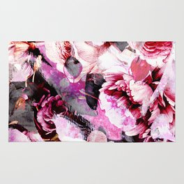 Roses in abstraction Rug