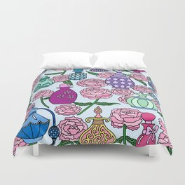 Perfume and Peonies Duvet Cover