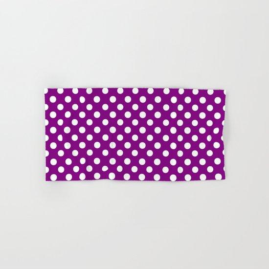 Polka Dots (White/Purple) Hand & Bath Towel