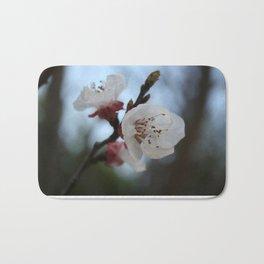 Close Up Apricot Blossom In Pastel Shades Bath Mat