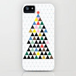 Geometric Christmas Tree iPhone Case